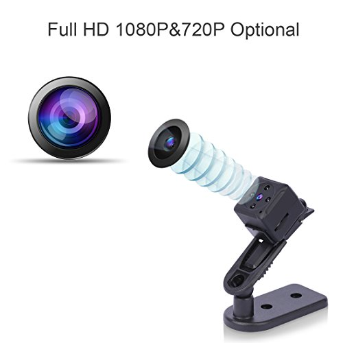 Mini Spy Hidden Camera Niyps 1080p Portable Small Hd Nanny Cam With Night Vision And Motion Detective Perfect Indoor Covert Security For Home